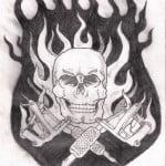 Tattoos Of Skulls And Guns