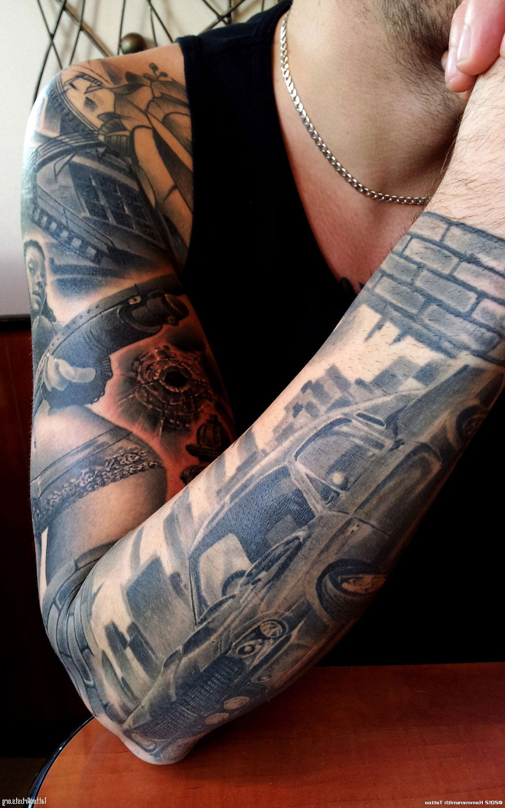 Custom tattoo sleeves cool tattoos bonbaden for Full custom tattoo