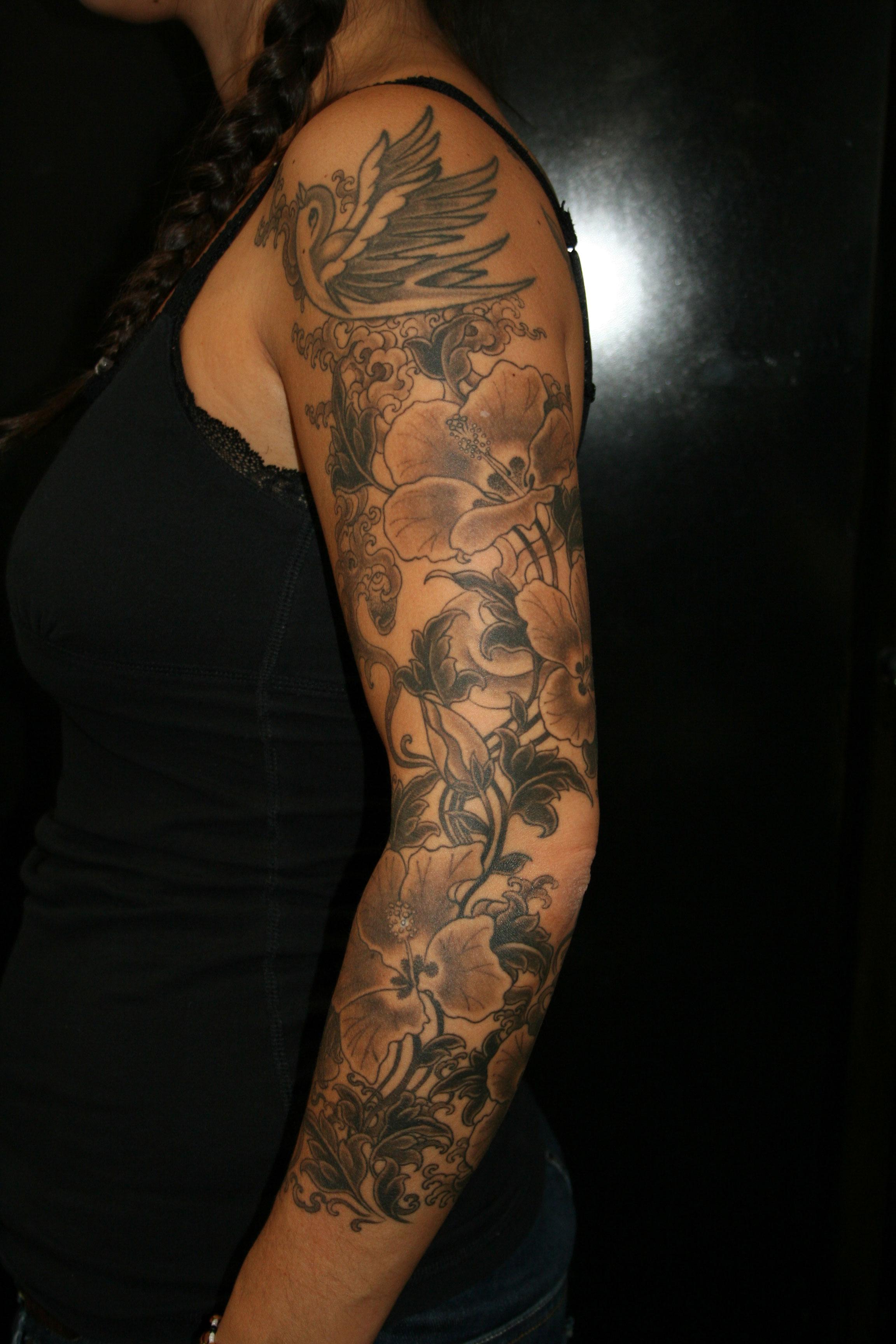 Floral Full Sleeve Tattoo Cool Tattoos Bonbaden