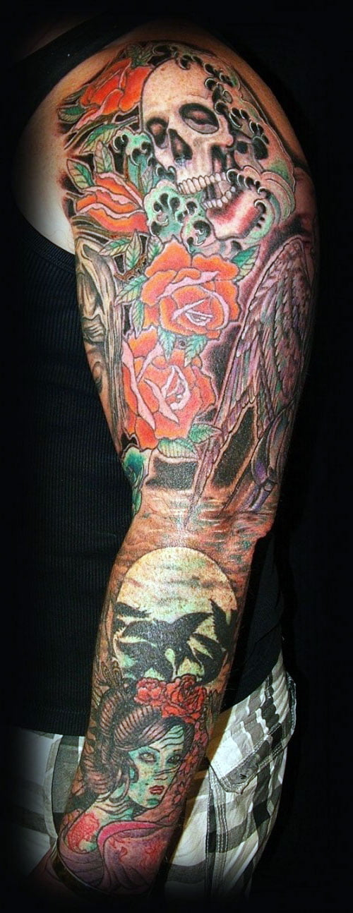 Full Arm Sleeve Tattoo Designs