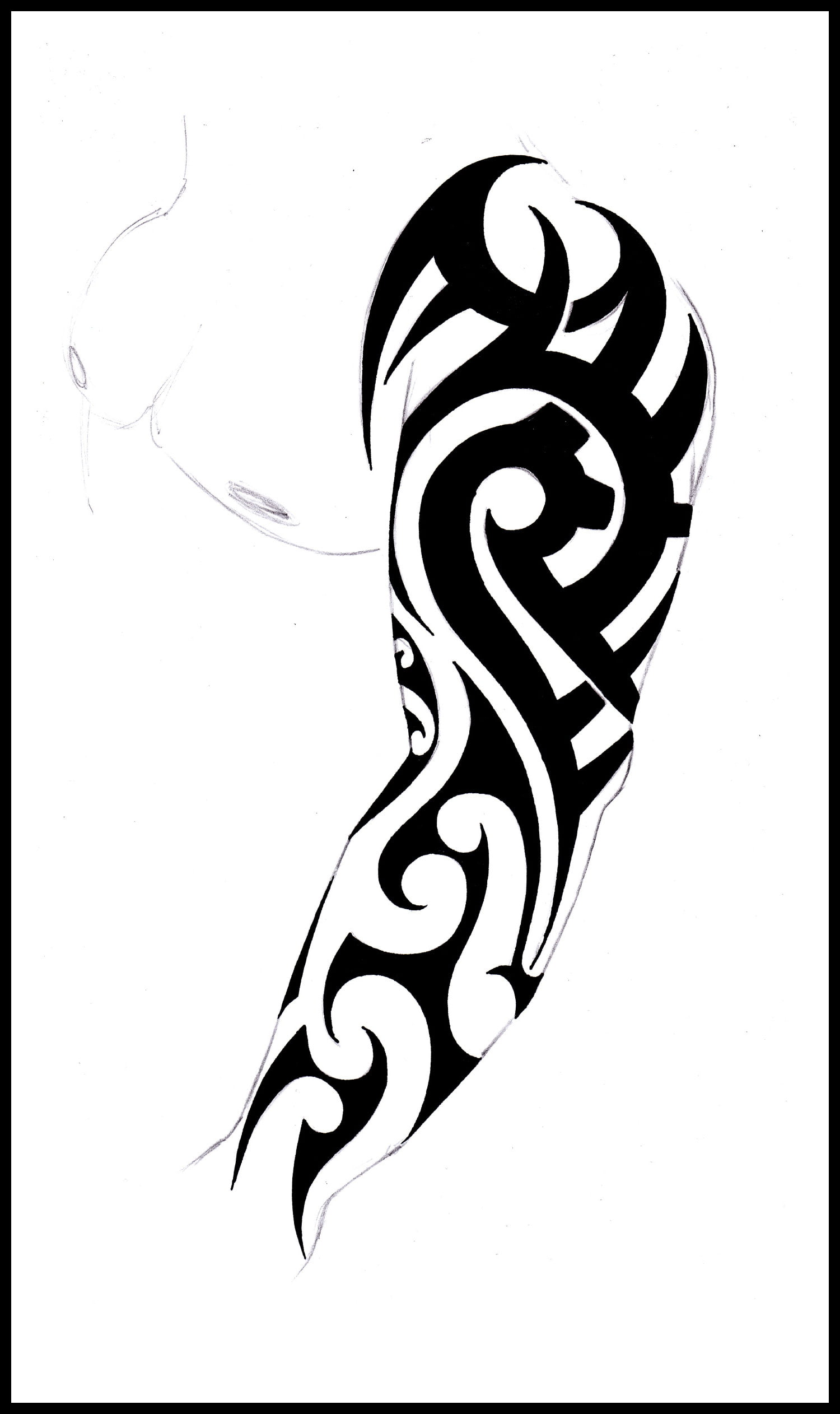 full sleeve tribal tattoo cool tattoos bonbaden. Black Bedroom Furniture Sets. Home Design Ideas
