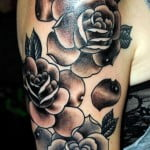 Half Sleeve Rose Tattoos For Men