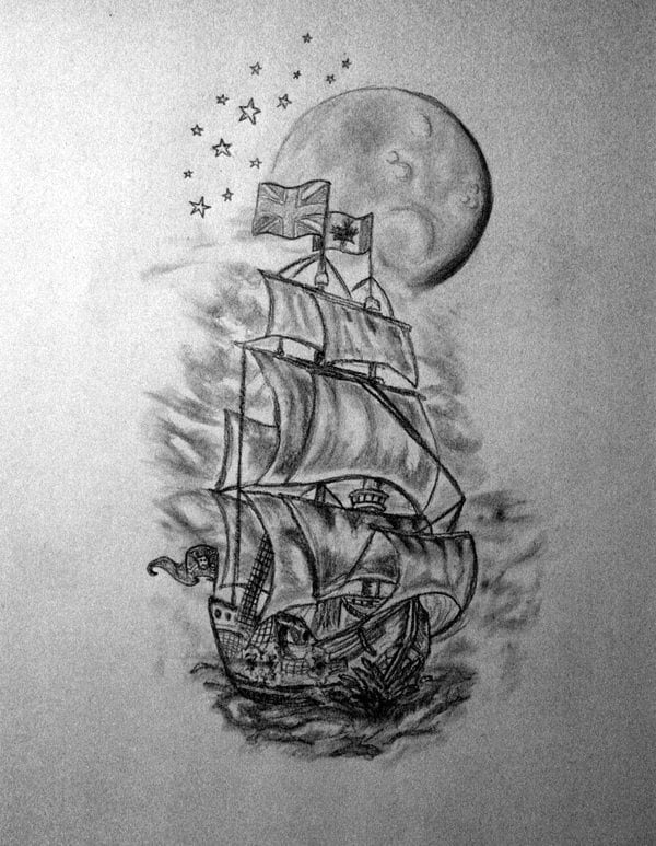 Half Sleeve Tattoo Designs For Men Black And White