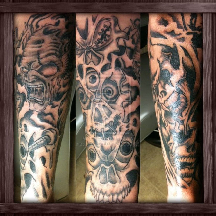 Half Sleeve Tattoos For Men Black And Grey