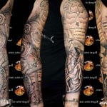 Religious Tattoos Sleeves Designs Men