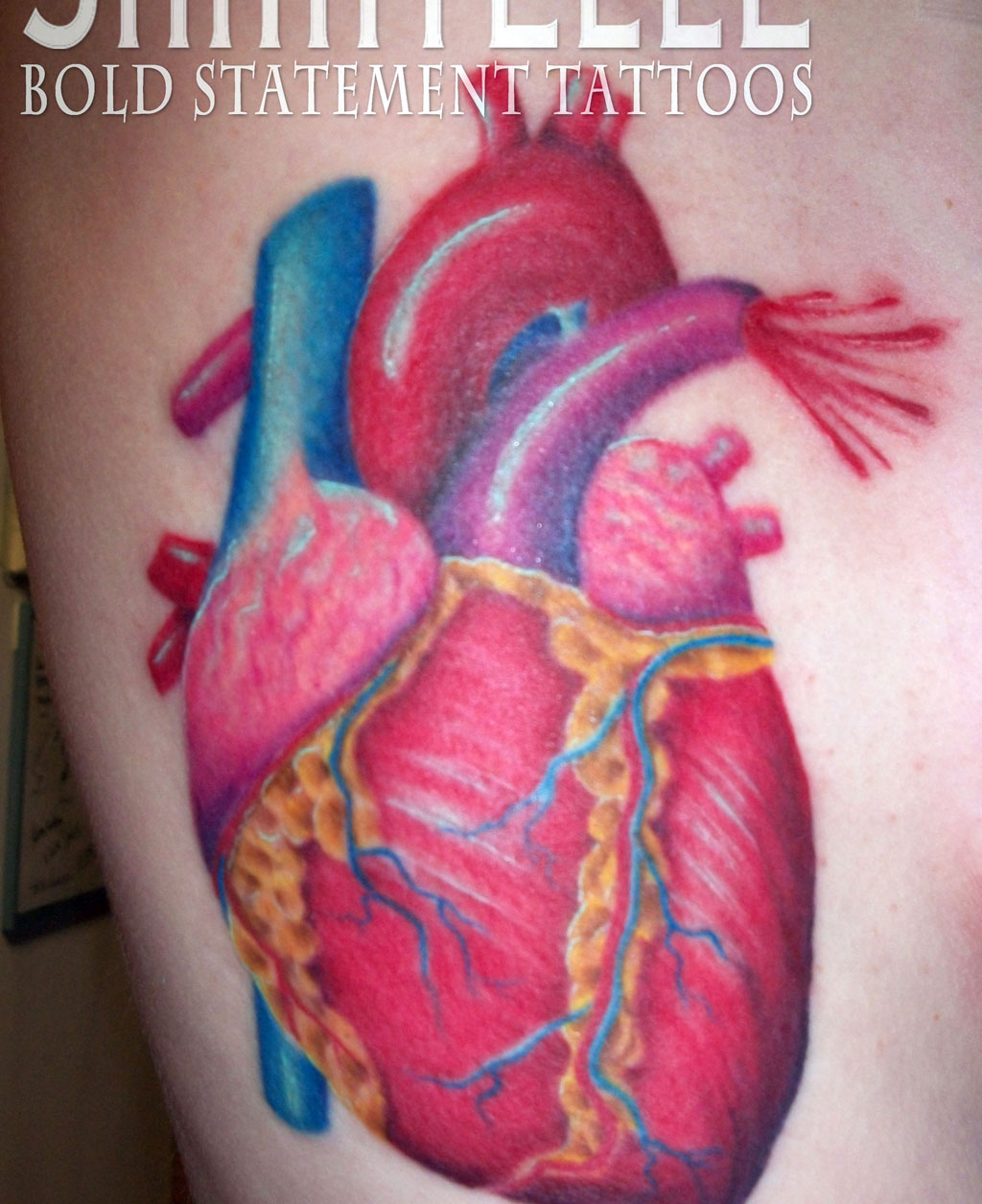 Anatomical Heart Tattoo Designs