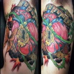 Colorful Heart Tattoos
