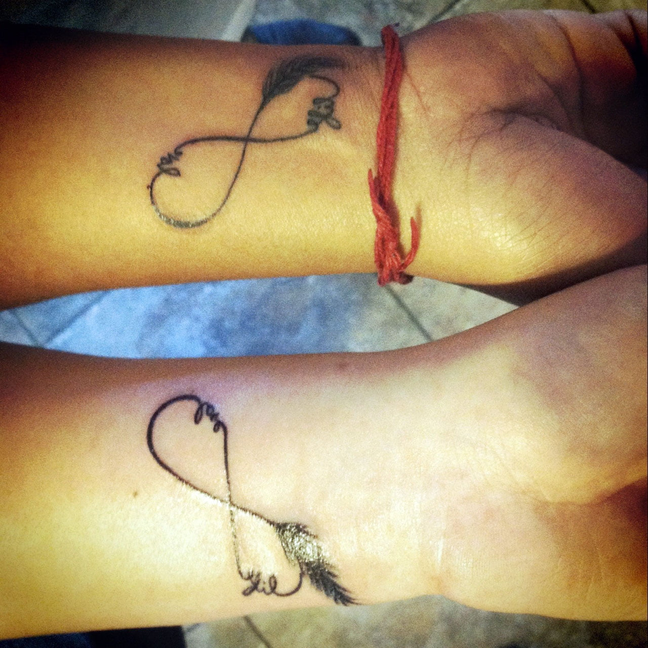 Couples Heart Tattoos Designs