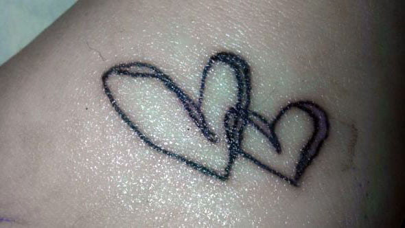 Double Heart Tattoo Images