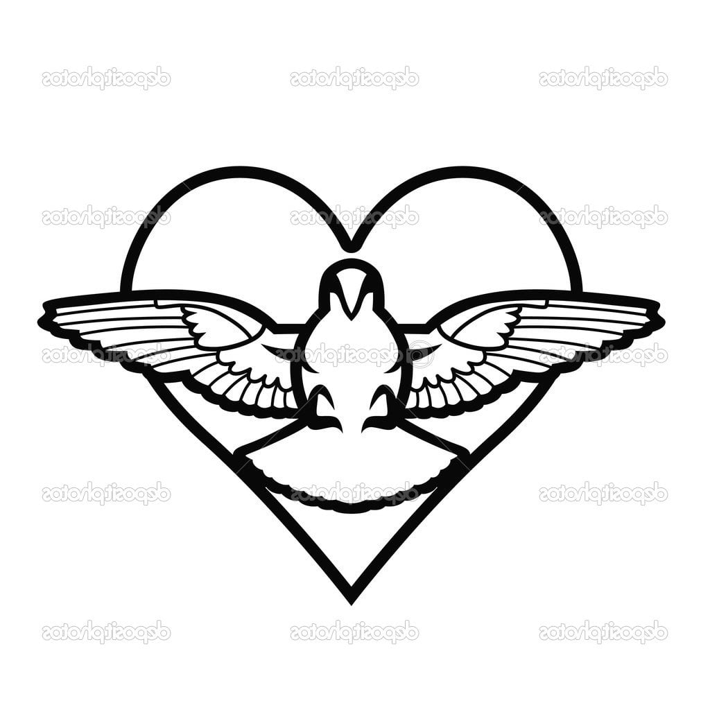 Dove Heart Tattoos