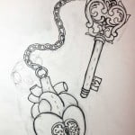 Heart And Key Tattoo Designs For Couples