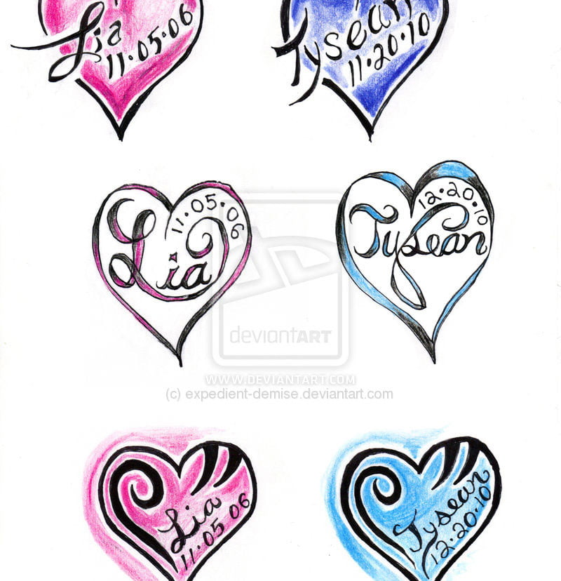 Heart Name Tattoo Ideas