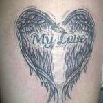 Heart Shaped Angel Wings Tattoo
