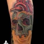 Heart Skull Tattoo