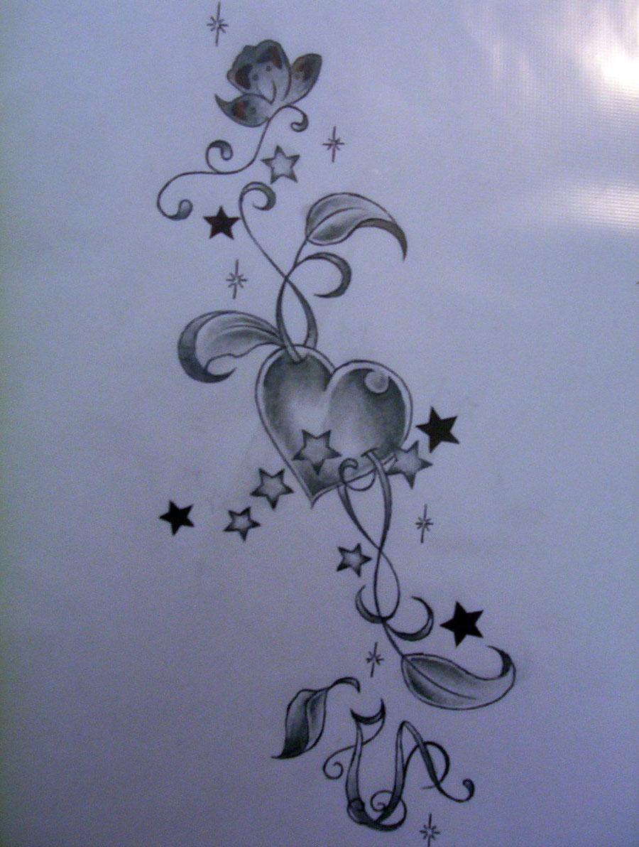 Heart Stars Tattoo Designs | www.pixshark.com - Images ...