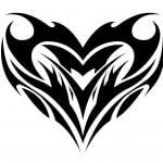 Heart Tribal Tattoo Designs