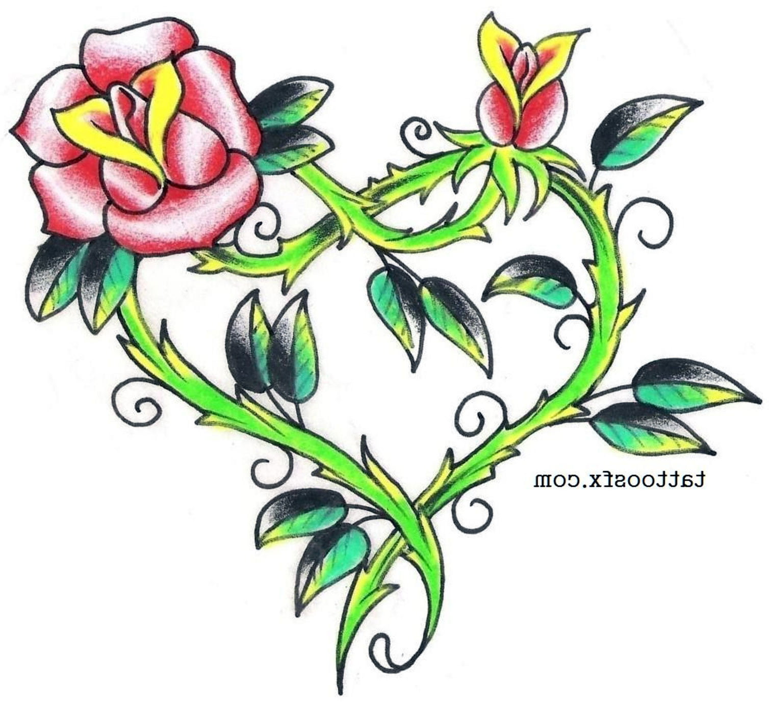 Hearts And Roses Tattoos