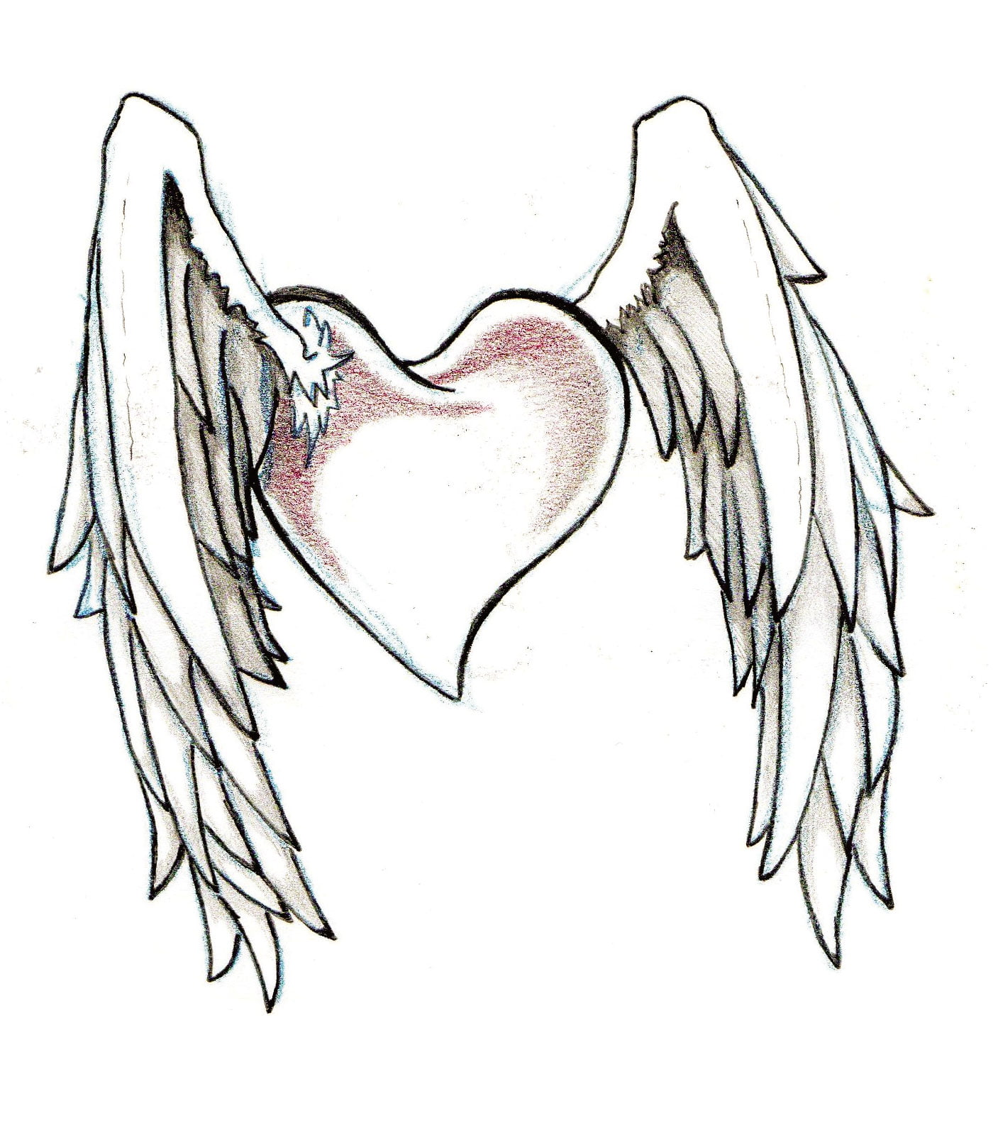 Hearts And Wings Tattoo Designs | Cool Tattoos - Bonbaden