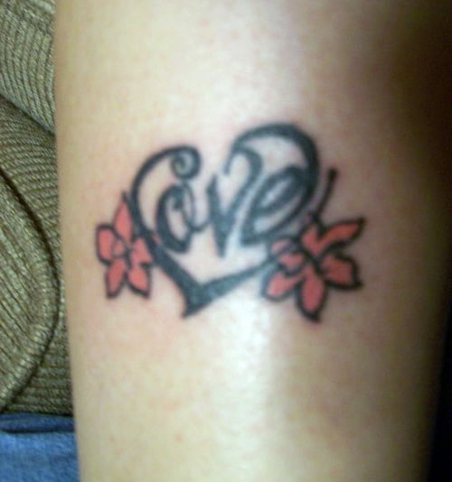 Love Heart Name Tattoos