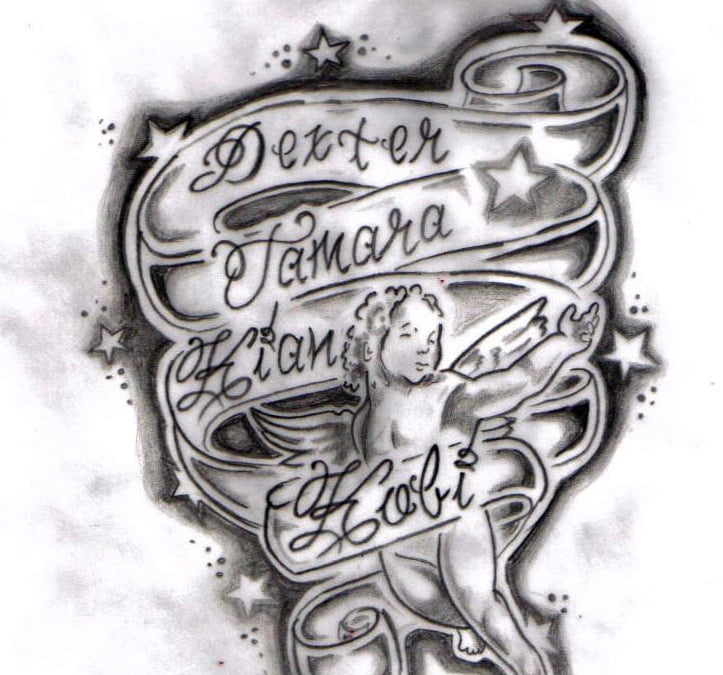 Name And Heart Tattoo Designs