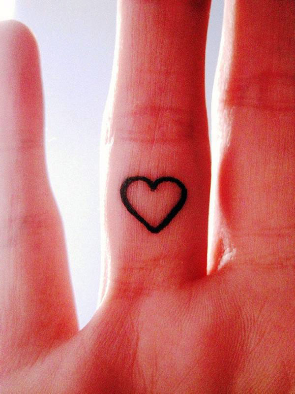 Small Heart Tattoos For Girls