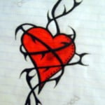 Vine Heart Tattoos