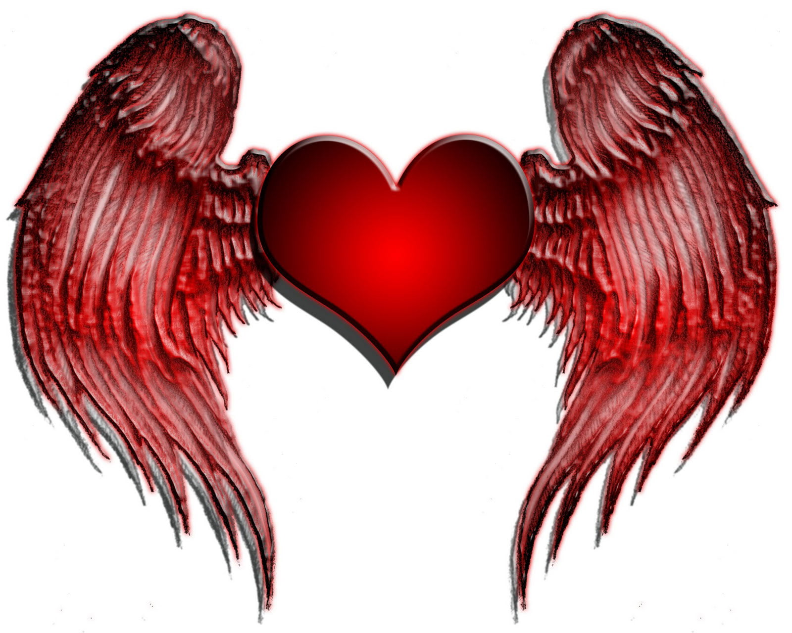 Wing Heart Tattoos