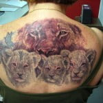 Female Lioness Tattoo