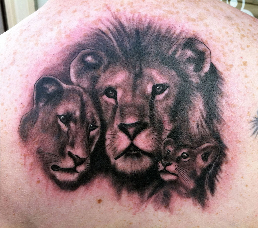 Lion Family Tattoo