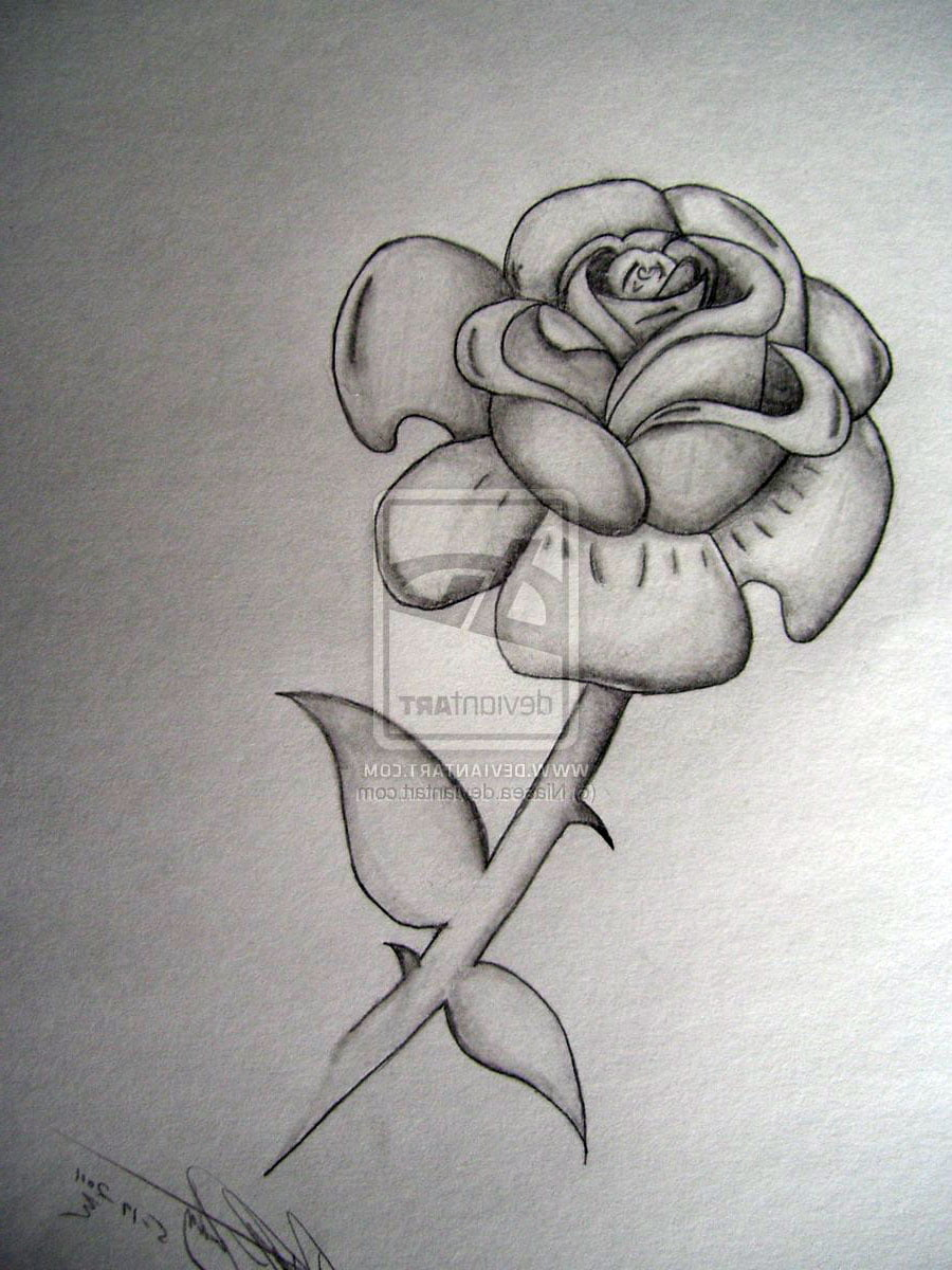 Black And White Roses Tattoos