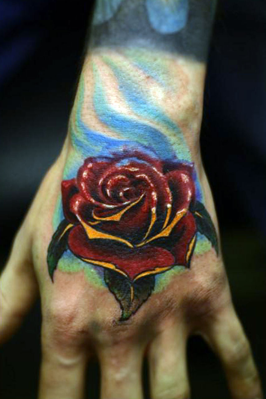 Black Rose Tattoos For Men