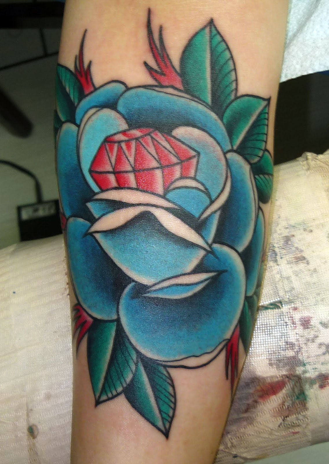 Blue Roses Tattoos