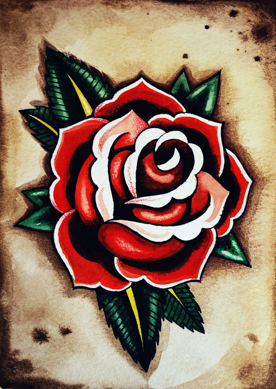 English Rose Tattoo Designs