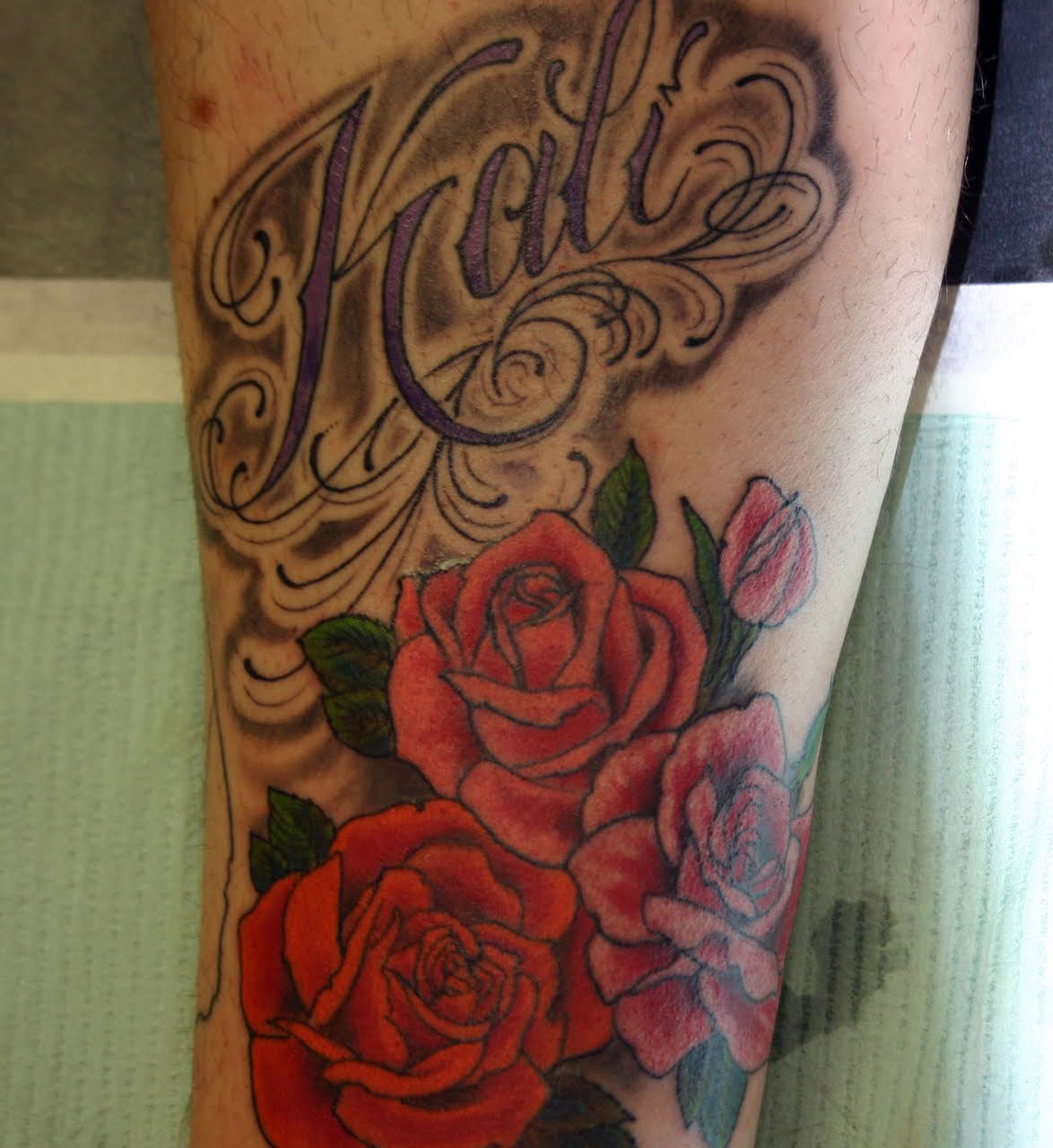 Name Tattoos With Roses