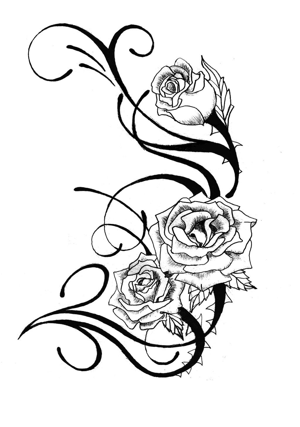 Rose tattoo designs free cool tattoos bonbaden for Free tattoo design