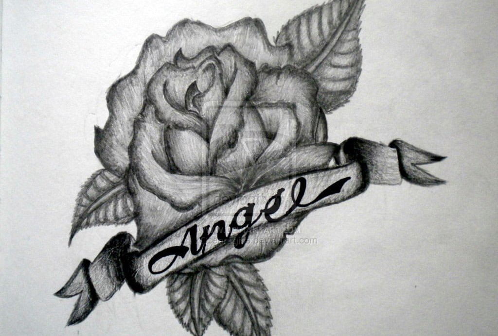 Rose Tattoos Designs With Names
