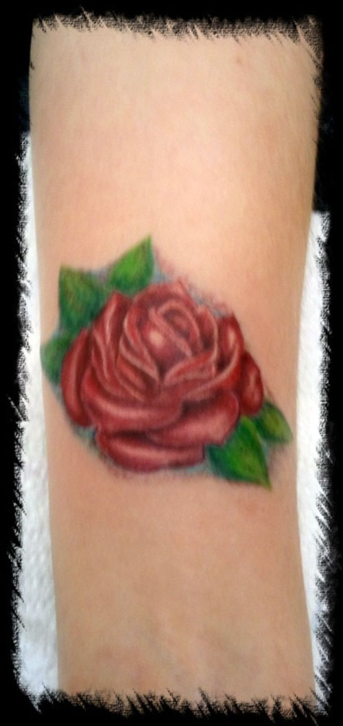 Small Rose Tattoos On Wrist
