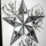 Stars And Roses Tattoo Designs