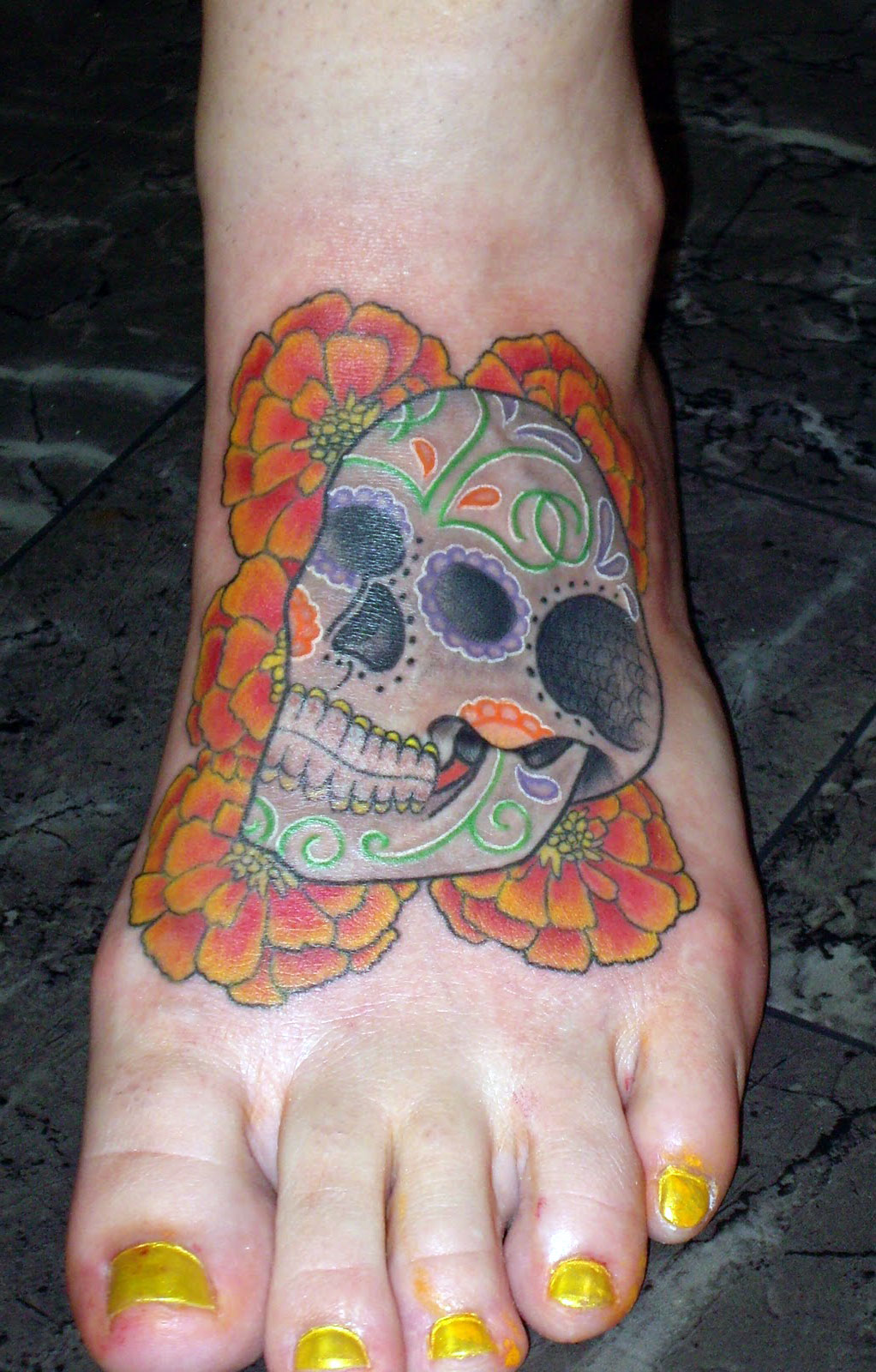 Female Sugar Skull Tattoo Images