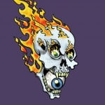 Flaming Skull Tattoo Designs