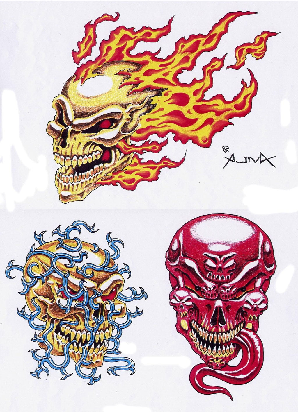 Free printable skull tattoo designs cool tattoos bonbaden for Free tattoo design