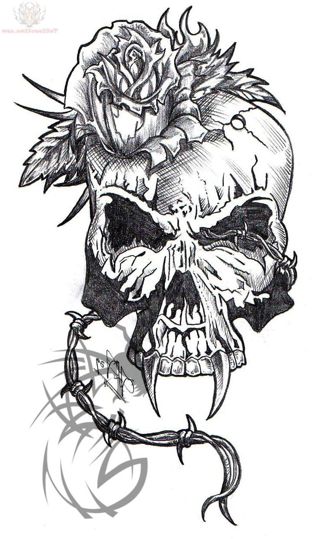 Значение тату череп птицы