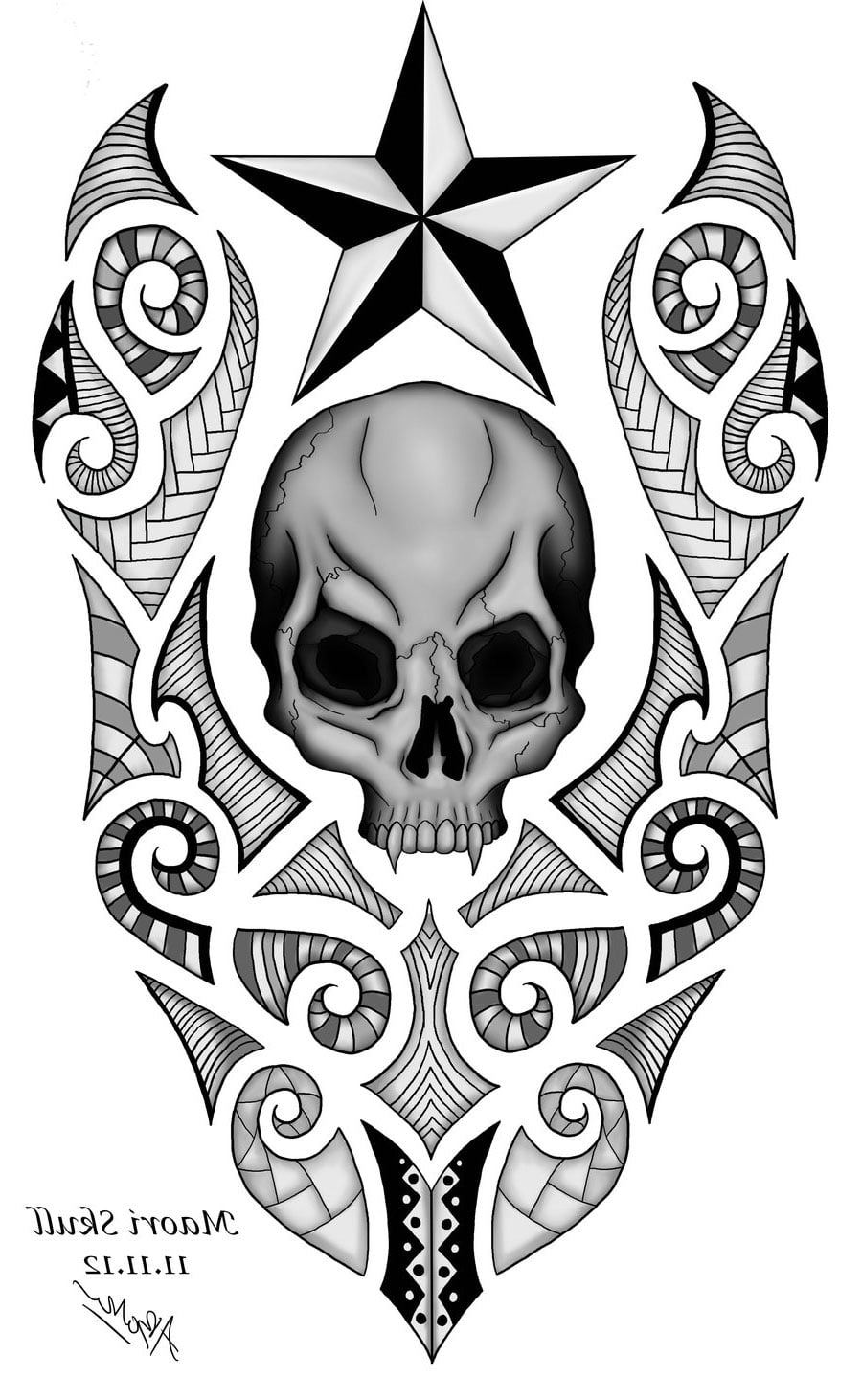 free tattoo designs of skulls cool tattoos bonbaden. Black Bedroom Furniture Sets. Home Design Ideas