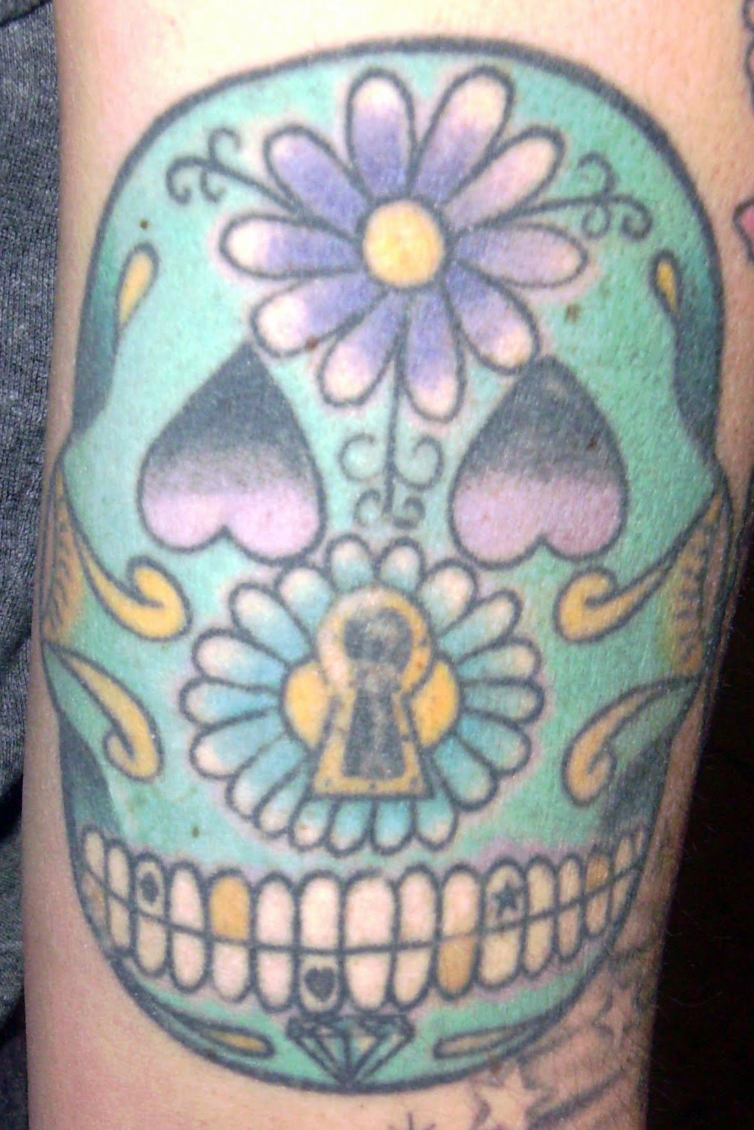 His And Hers Sugar Skull Tattoos