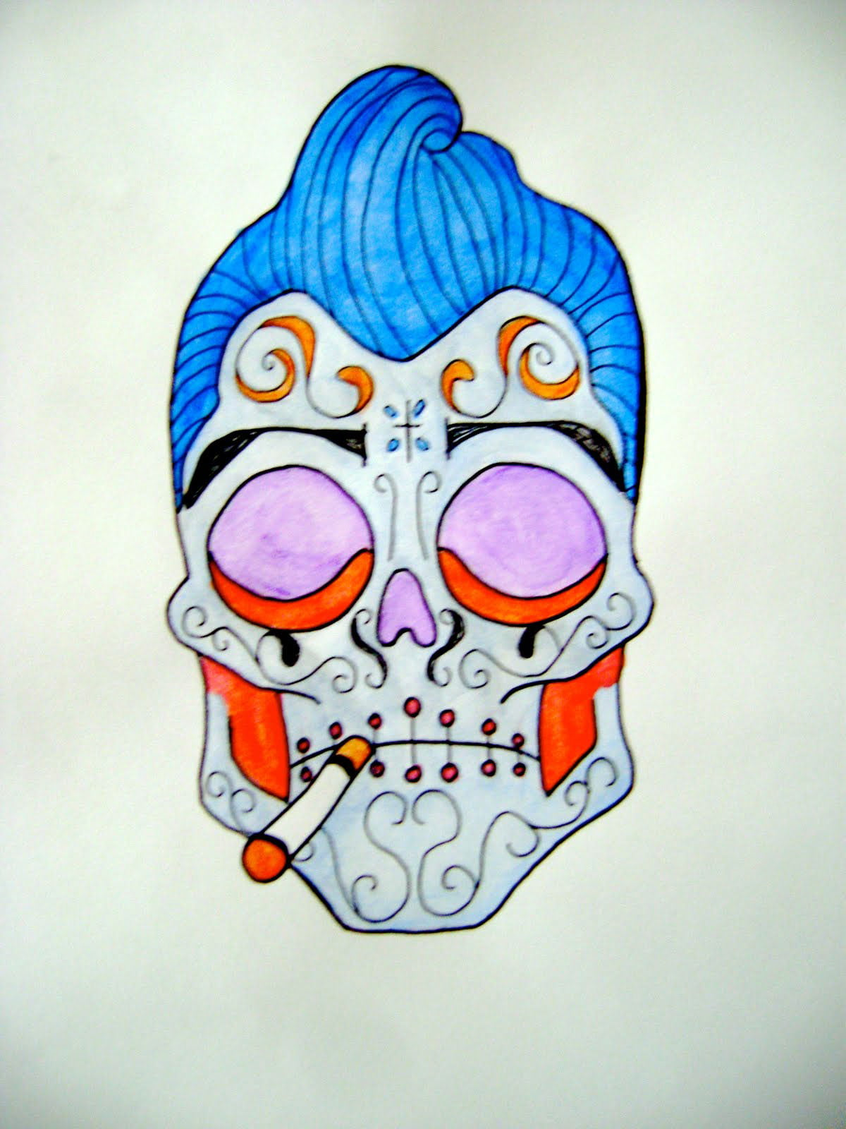 Men Sugar Skull Tattoo