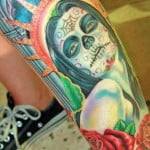 Mexican Skull Tattoo Design