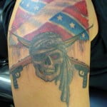 Rebel Flag Skull Tattoos