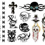 Skull Temporary Tattoos