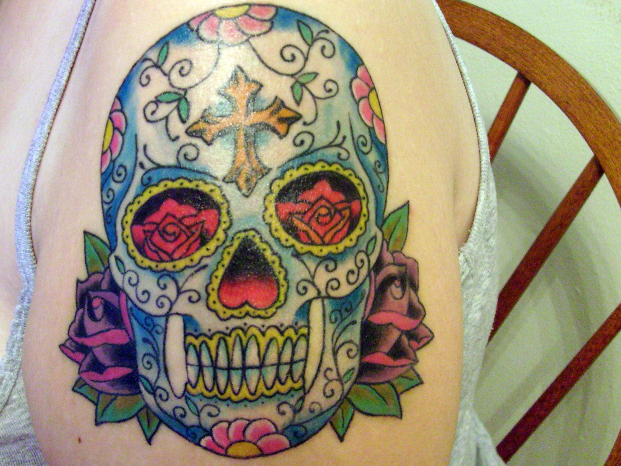 Sugar skull meaning tattoo cool tattoos bonbaden for Sugar skulls tattoos meaning