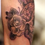 Sugar Skull Tattoos With Flowers